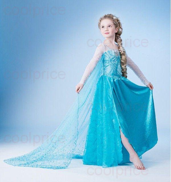 Платье принцессы Эльзы детское