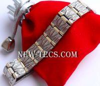 Титановый магнитный браслет с турмалином