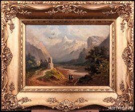 Долина Рейна возле Рагац, пейзаж, 1900 г., артикул 01579