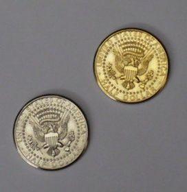 "Double Side Half Dollar ""орел"" Gold - Silver"
