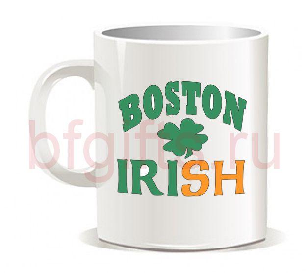 "Кружка ""Boston irish"""
