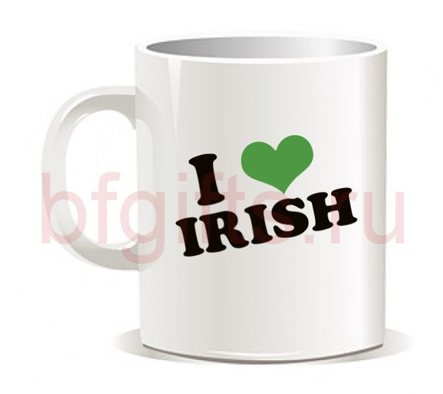 "Кружка ""I love irish"""