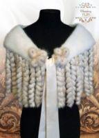 накидка на плечи меховая из меха фото купить