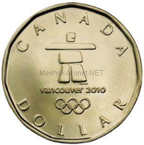 Канада 1 Доллар 2010 Олимпида Ванкувер 2010 Символ Олимпиады в Ванкувере