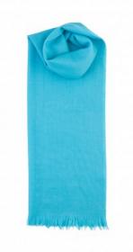 невесомый тонкорунный  палантин (большой шарф) 100% шерсть мериноса, Бирюзовый Bright turquoise. плотность 1