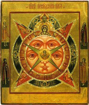 Всевидящее Око (копия старинной иконы)