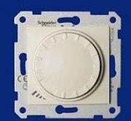 Светорегулятор индуктивный 60-500 Вт проходной поворотно-нажимной Sedna (бежевый)