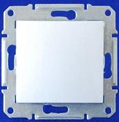 Выключатель одноклавишный IP44 Sedna (белый)
