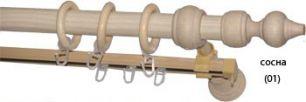 Карниз деревянный ДК 27Д сосна