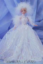 Коллекционная кукла Барби  Снежная Принцесса (Времена года) - Snow Princess Barbie Doll (blonde)