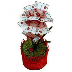 Денежное дерево 5000 рублей малое