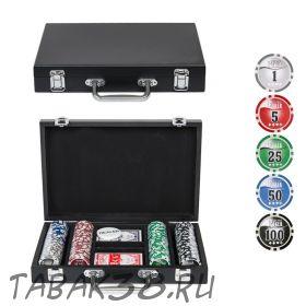 Покерный набор Wood 200 (фишки 11,5 гр, кейс дерево)