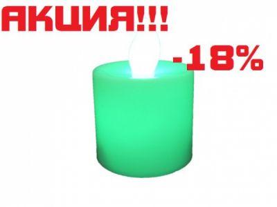 Свеча LED Огонёк LD-115 (зелёный)