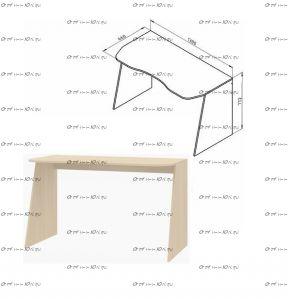 Стол письменный Дельта-15 (130х66х78)