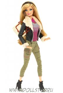 Кукла Барби Стиль Кожаный пиджак - Barbie Style - Barbie Doll (Dark Blue Jacket) 2014