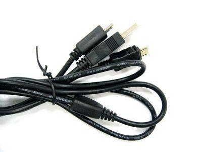 Кабель USB Орбита TS-3051 (штекер USB- штекер mini+micro USB) 1м