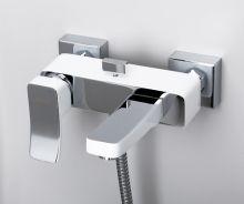 Смеситель для ванны с длинным поворотным изливом Aller 1061 WHITE  wasserKraft