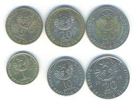 Набор монет Мавритания (6 монет)1997-1999
