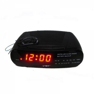 VST906-1 часы 220В + радио крас.цифры