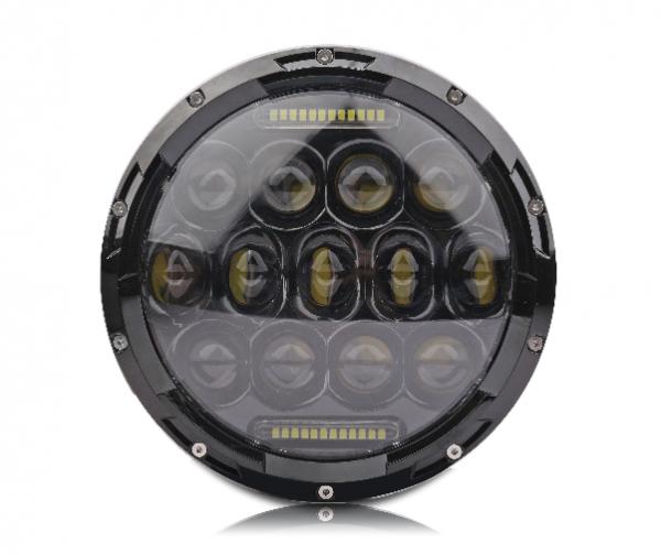 Светодиодные LED фары ближнего/дальнего света 7 дюймов 75W  Defender Jeep