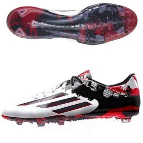 Бутсы  ADIDAS F50 ADIZERO MESSI FG red-white