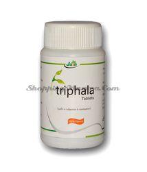 Трифала в таблетках для баланса трех дош Джайн Аюрведик (Jain Ayurvedic Triphala Tablets)