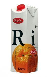 ..Сок Rich апельсин 1л