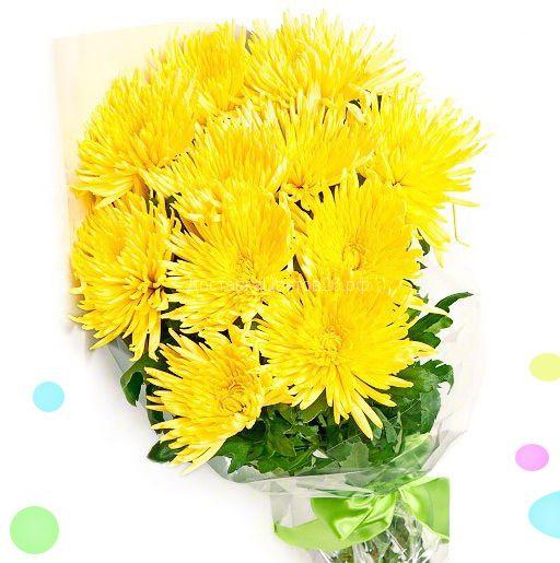 Букет из желтых хризантем Анастасия.