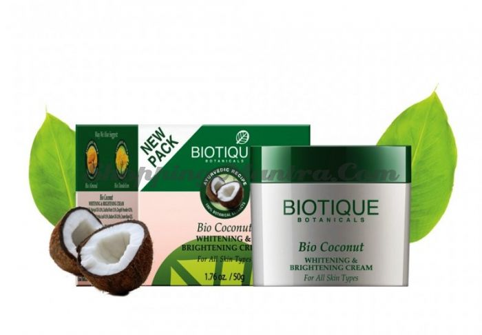Осветляющий крем для лица Биотик Кокос | Biotique Bio Coconut Face Cream