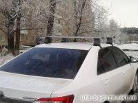 Багажник на крышу Toyota Camry, Атлант, аэродинамические дуги