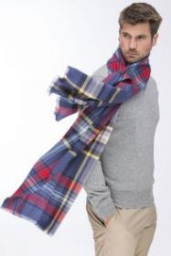 легкий стильный  большой шарф Глазго Glasgow 100% шерсть мериноса,   плотность 3