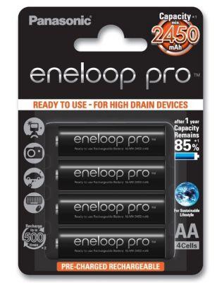 Аккумуляторы AA Panasonic Eneloop PRO 2500мАч (BK-3HCCE)