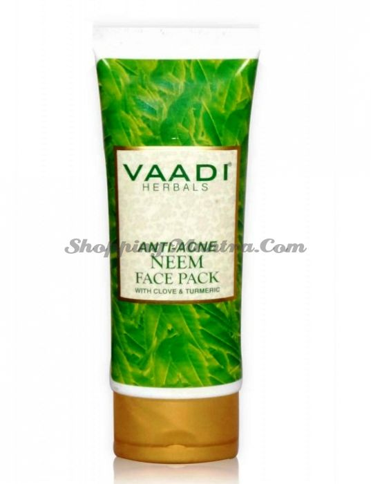 Маска против прыщей с ним и гвоздикой Ваади (Vaadi Anti Acne Neem Face Pack)