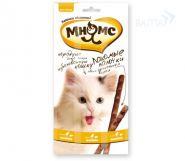 Мнямс Лакомые палочки для кошек с цыпленком и печенью (3х5 г)