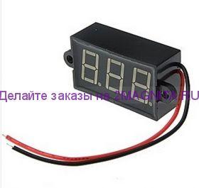 Вольтметр электронный водостойкий 6, 12, 24, 30VDC