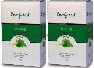 Порошок Брами натуральный кондиционер и маска для волос Банджарас /Banjara's Brahmi Powder