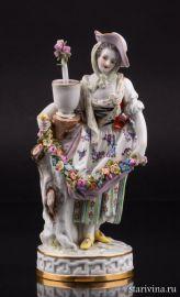 Девушка с гирляндой цветов, Meissen, Германия, вт. пол. 20 в