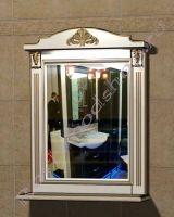 """Зеркало с полкой для ванной """"Руссильон PROVENCE-80 светлое дерево"""""""