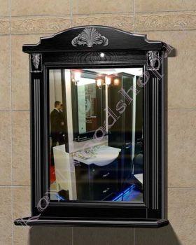 "Зеркало ""Руссильон PROVENCE-80 черное дерево"""