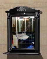 """Зеркало с полкой для ванной """"Руссильон PROVENCE-80 черное дерево"""""""