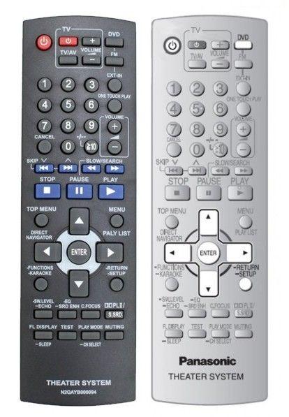 Пульт для Panasonic N2QAYB000094 (N2QAYB000093, N2QAYB000096) (home theater) (SC-PT550EE-K, SC-PT550EE-S, SC-PT850EE-K)