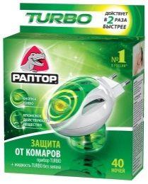 РАПТОР Комплект: прибор РАПТОР TURBO + жидкость от комаров ТURBO 40 ночей