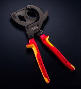 Резак для кабеля со стальным армированием, изоляция VDE  KNIPEX 95 36 315A