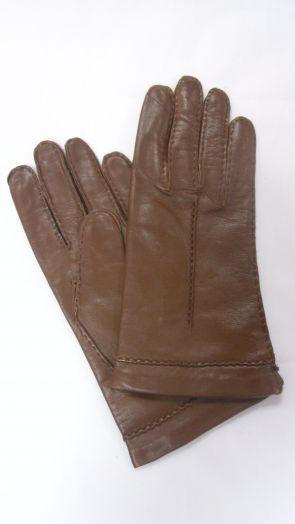 Перчатки демисизонные кожаные мужские HRAD 4033 chestnut