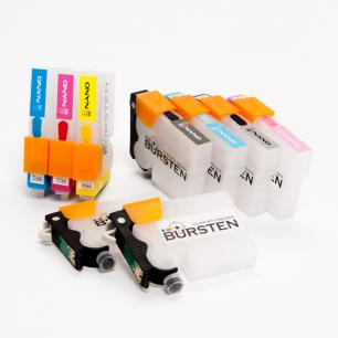 Перезаправляемые картриджи Bursten Nano 2 для Epson Stylus Photo R2880 (T0961 - T0969) x 9 шт.