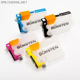 Перезаправляемые картриджи Bursten Nano 2 для Epson Stylus TX106, TX109, ТХ117, TХ119, C91, CX4300 (T0921- T0924) x 4 шт.