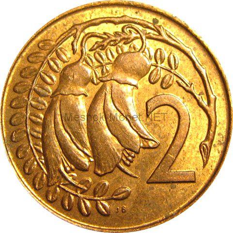 Новая Зеландия 2 цента 1974 г.