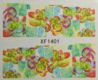 Водная наклейка для дизайна ногтей XF 1401