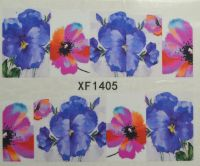 Водная наклейка для дизайна ногтей XF 1405