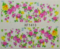 Водная наклейка для дизайна ногтей XF 1413